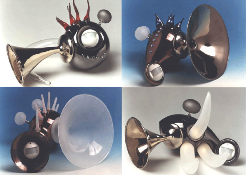 Time Machines 2002 - Blown glass & electronic circuits