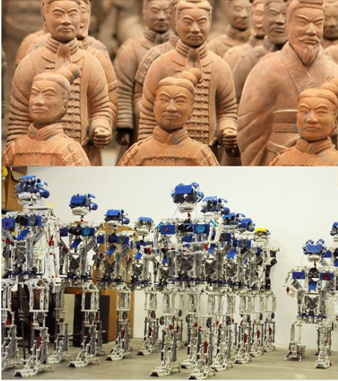 Terracotta Xi'an Army VS Robots Army - MiM -S.Pietro in Cerro