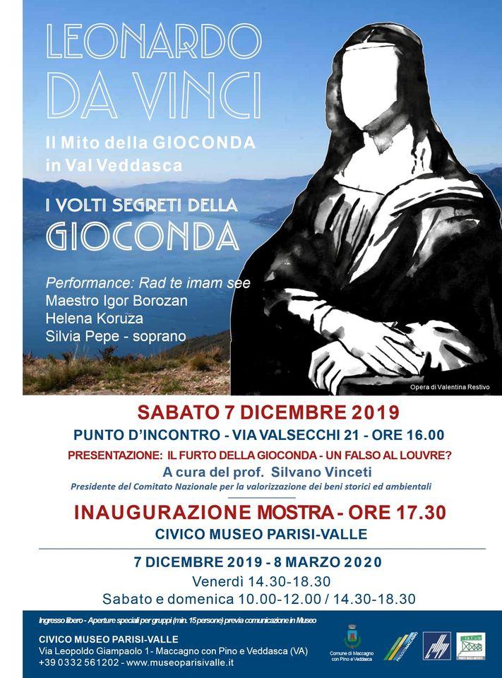 013) VOLTI SEGRETI DELLA GIOCONDA, Museo Parisi_Valle - Maccagno- inaugurazione 7 dicembre 2019