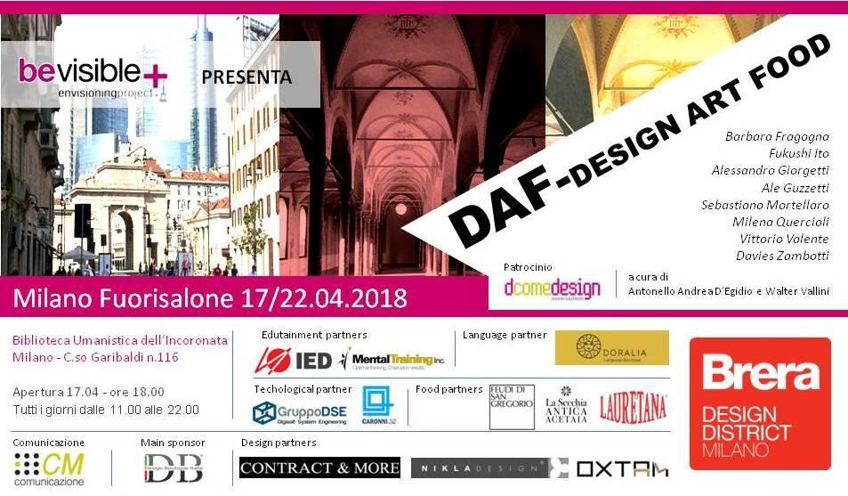 04) DAF Design Art Food Biblioteca Umanistica Milano - inauguraziione 17 Aprile 2018